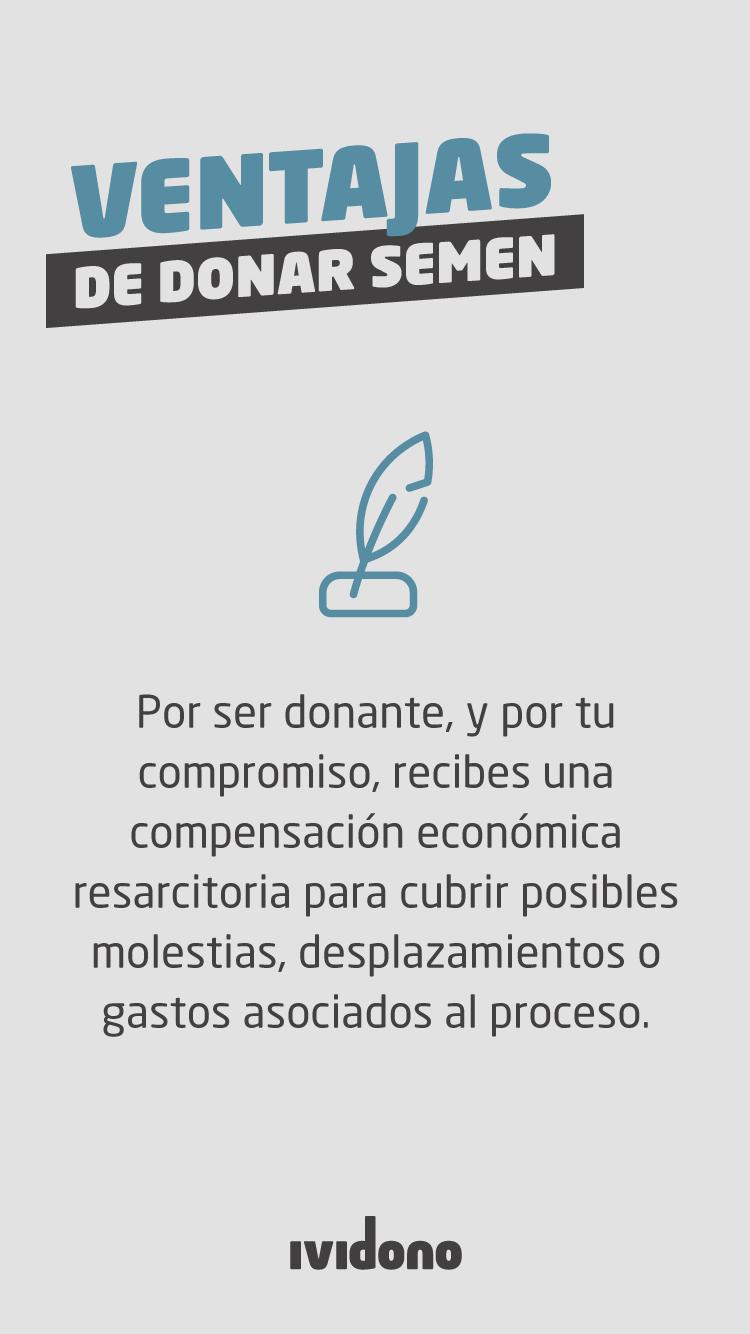 beneficios donación semen compensación económica