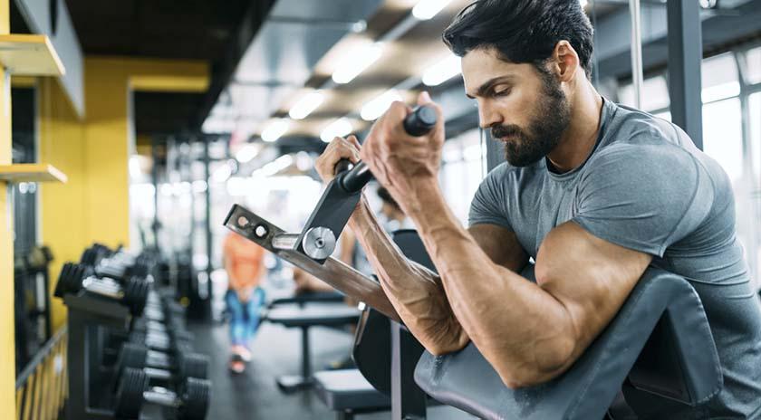 bacterias en el gym brazos